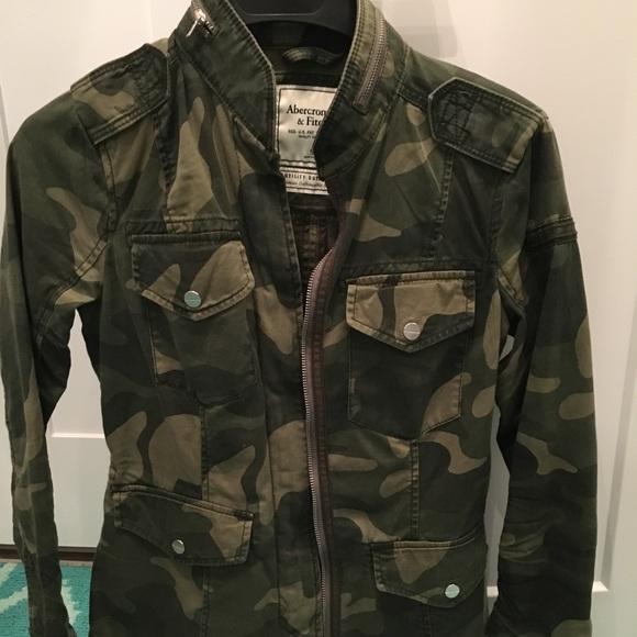 a0e9c95bbce6e Abercrombie & Fitch Jackets & Coats | Abercrombie Camo Jacket | Poshmark